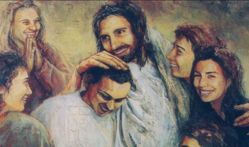 Jesus with family and friends