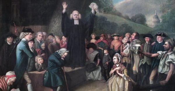 George Whitefield preaching the gospel