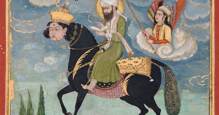 Muhammad on horse